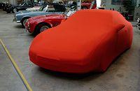 CAR CAPPY Indoor-Garage für Audi 100 C4 Avant Bj.von 1990 bis 1994 Farbe Rot mit Spiegeltaschen